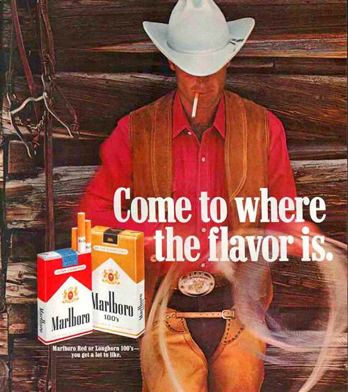 Marlboro man cigarette ad