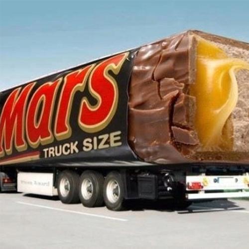 mars candy bar truck