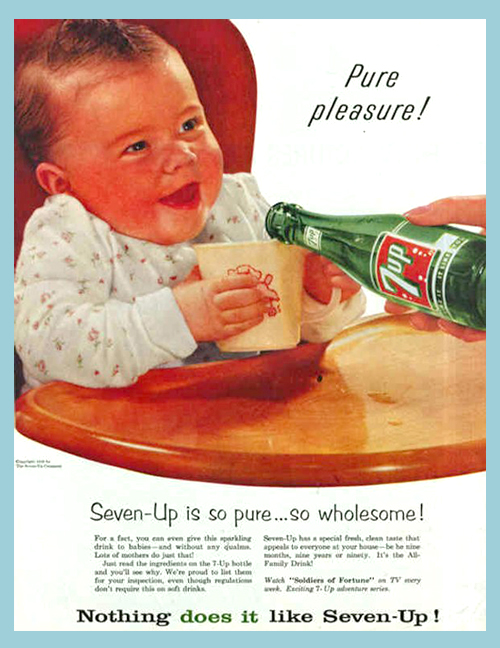Seven Up ad from 1956