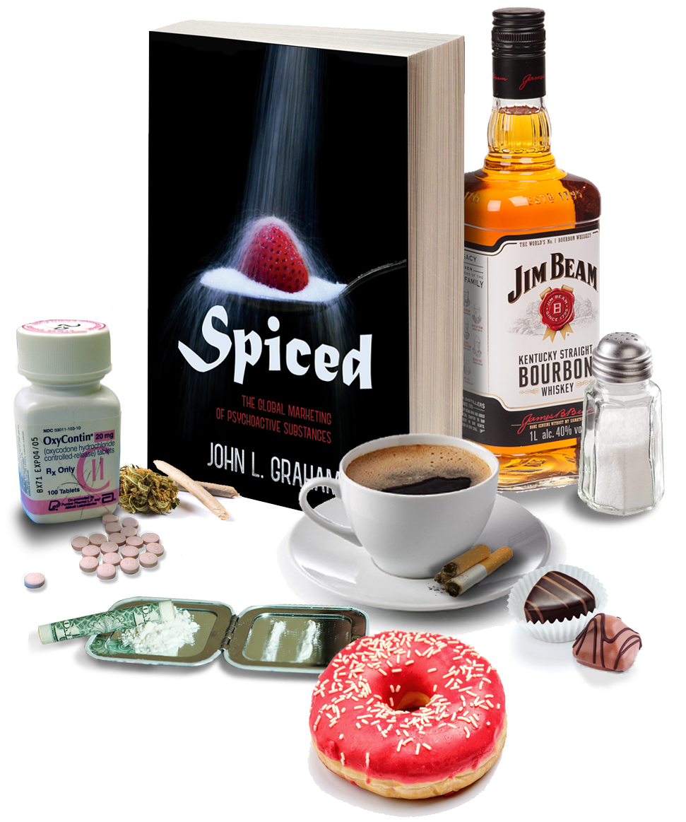 Image of Spiced book surrounded by hedonic substances